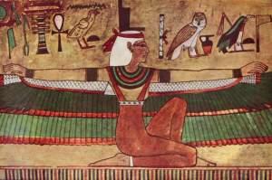 Isis aux bras ailés (peinture murale à Karnak)