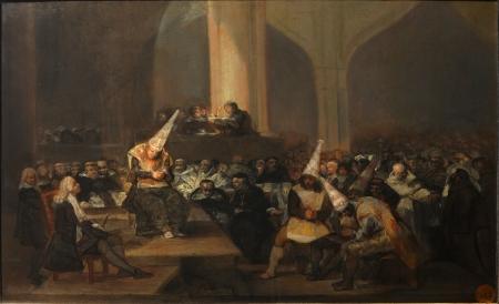 Tribunal de l'Inquisition, illustration de Francisco De Goya (wikimédia)