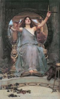 Circé offrant la coupe de drogue à Ulysse, par John William Waterhouse.