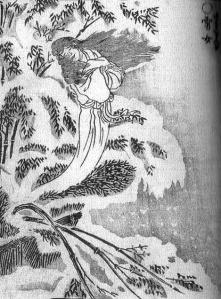 Illustration de Yuki-onna par Toriyama Sekien, extraite du Gazu hyakki yagyō, 1781.