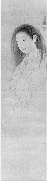 "Maruyama Ōkyo's ""The Ghost of Oyuki"" (wikimedia)"