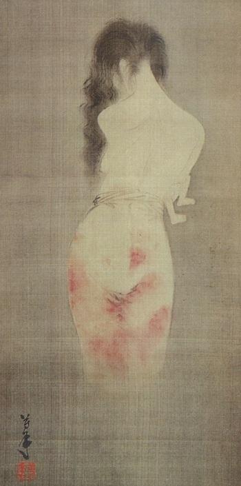 """Tsukioka Yositoshi's """"Yūrei"""" (wikimedia)"""