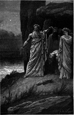 Les druides, représentation fantaisiste de Neuville au XIXe siècle
